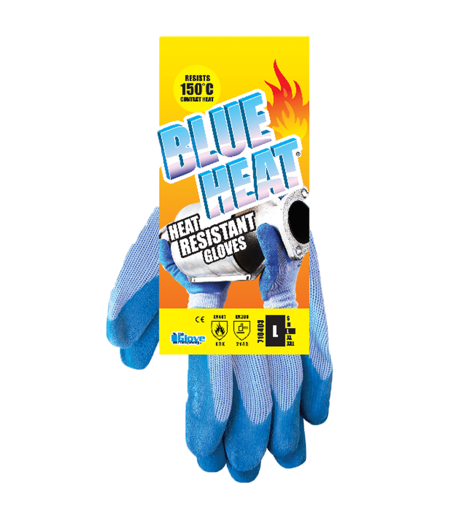 BlueHeat Heat Resistant Gloves on Hang Tag
